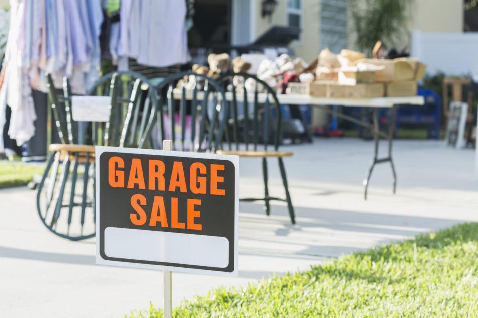 Sign at a garage sale