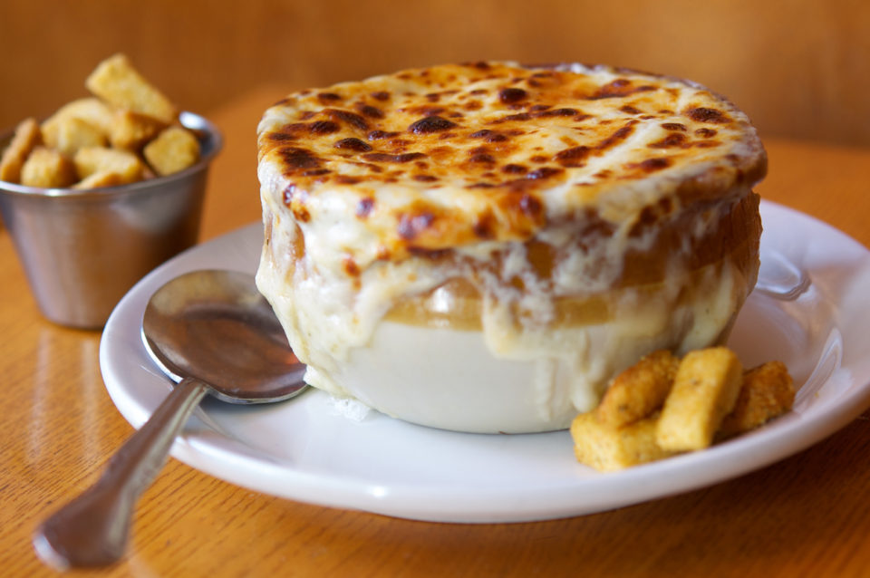 French Onion Soup with croutons